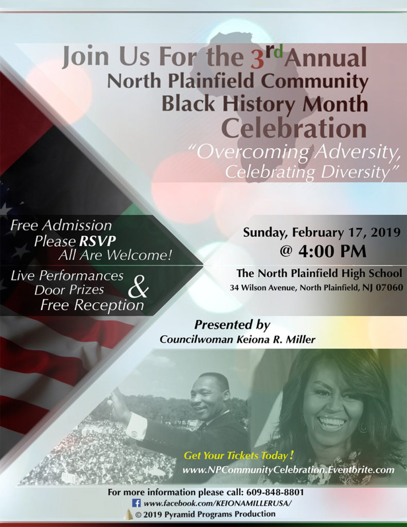 North Plainfield Community 3rd Annual Celebration of Black History @ North Plainfield High School