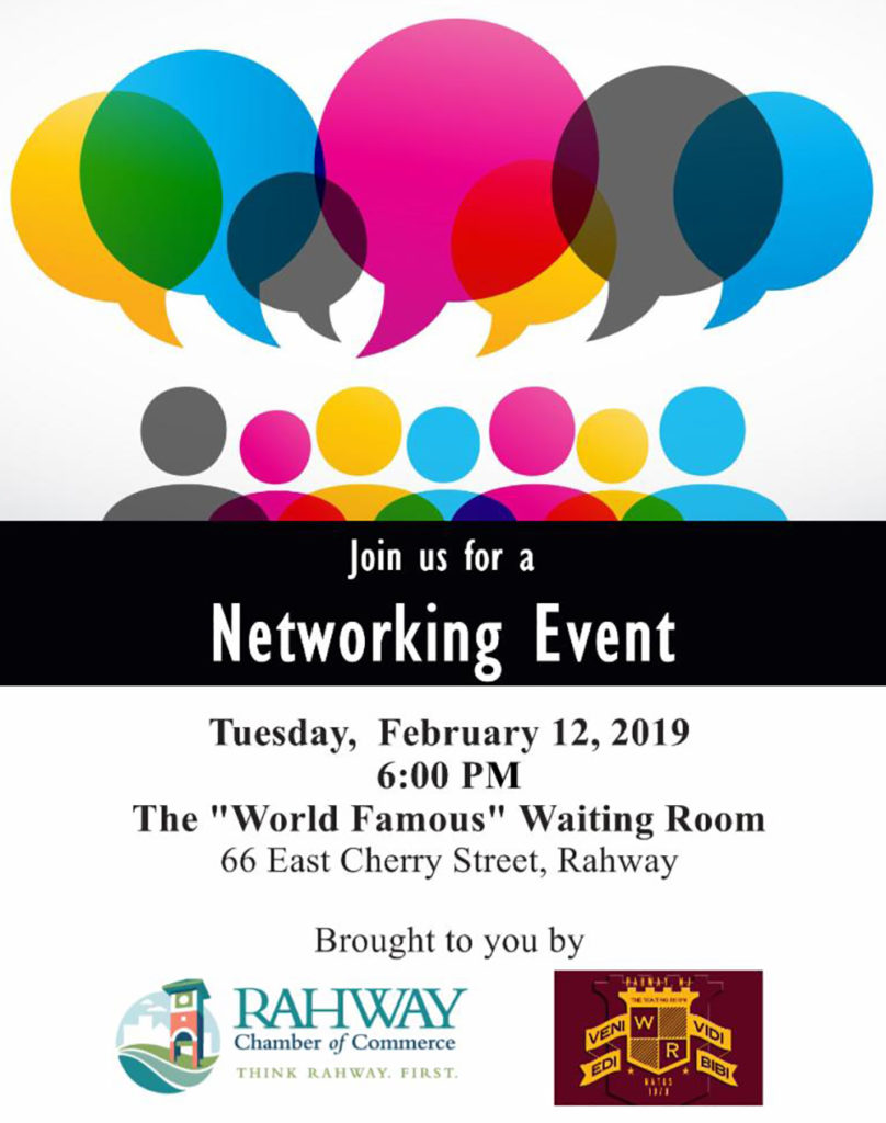 """Rahway COC Networking Meeting @ The """"Worlds Famous"""" Waiting Room"""