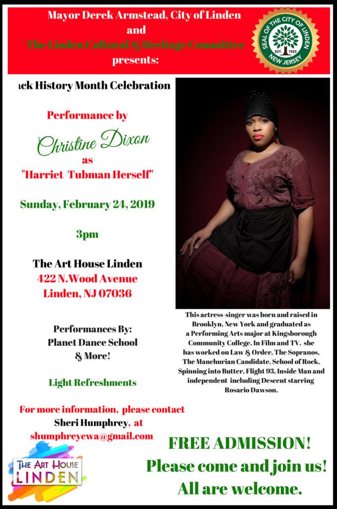 Black History Month Celebration & Performance of Harriet Tubman