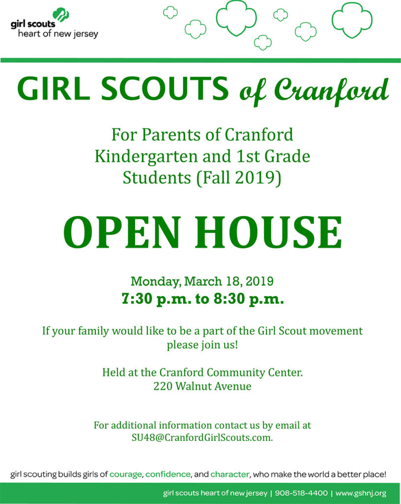 Cranford Kindergarten and 1st Grade Students Open House