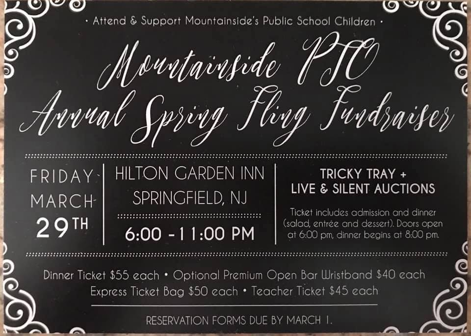 MOUNTAINSIDE PTO'S ANNUAL SPRING FLING @ Hilton Gardenn Inn