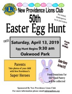 New Providence Easter Egg Hunt 2019 @ Oakwood Park, New Providence