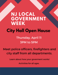 NJ Local Govt Week Open House @ Summit City Hall