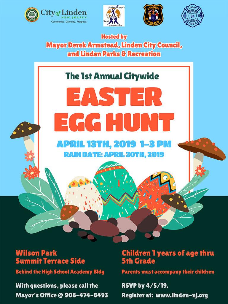 Linden 1st Annual Citywide Easter Egg Hunt
