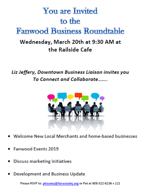 Fanwood Business Roundtable Meeting @ Railside Cafe