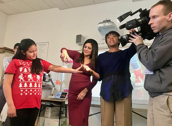 Renna Media   News 4 Weather Team Visits Linden Elementary