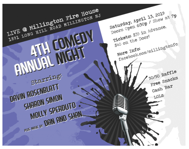 Renna Media | Millington Fire Company Annual Comedy Night |