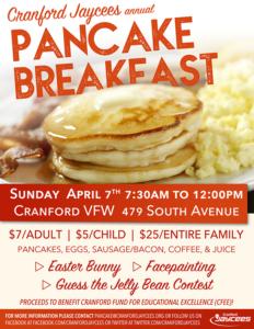 Cranford Jaycees annual Pancake Breakfast @ Cranford VFW