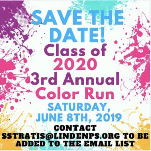 Linden High School Annual Color Run 2019 @ Linden Elementary School #1