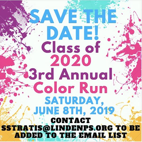 Color Run 2020 Dates.Renna Media Linden High School Annual Color Run 2019