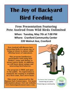 The Joy of Backyard Bird Feeding @ Cranford Community Center