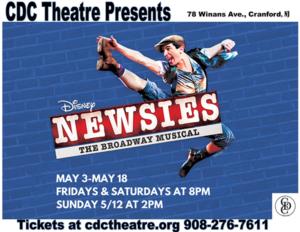 Disney's Newsies Coming to Cranford CDC Theatre @ CDC Theatre