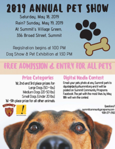 Summit 2019 PAL Pet Show @ Summit's Village Green
