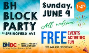 Berkeley Heights Summer Block Party 2019 @ Block Part