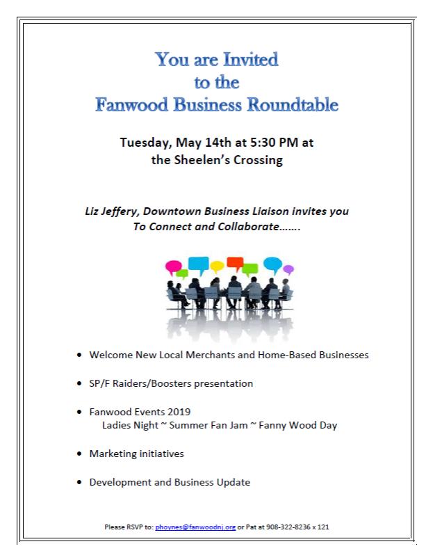 Fanwood Business Roundtable @ Sheelen's Crossing