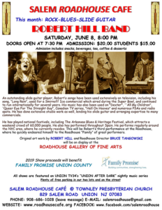 Salem Roadhouse Cafe presents the Robert Hill Band @ Salem Roadhouse Cafe