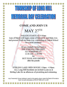 Long Hills Memorial Day Celebration @ Parade Location