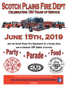 Scotch Plains Fire Deptartment 150 Years Party @ The North Station