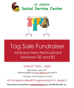 Tag Sale Fundraiser at St. Joseph Social Service Center @ St. Joseph Social Service Center