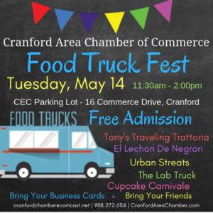 Cranford's Food Truck Fest 2019 @  CEC Parking Lot