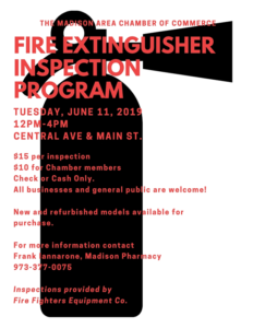 Madison Townships Fire Extinguisher Inspections Program @ Inspection Location