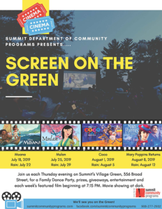 "Summit's ""Screen on the Green"" @ Summits Village Green"