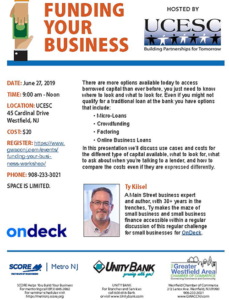 Funding Your Business Hosted by UCESC @ UCESC