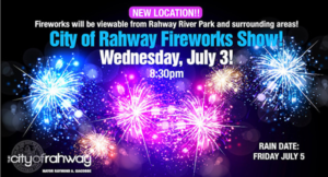 City of Rahway Fireworks Show @ Rahway River Park