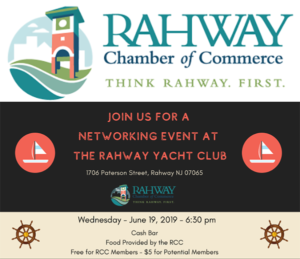Rahway Chamber of Commerce Networking Event @ Rahway Yacht Club