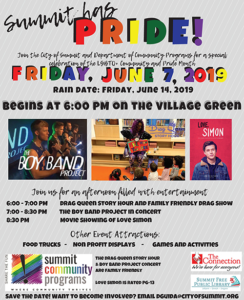 Summit Has Pride Community Event @ Summits Village Green
