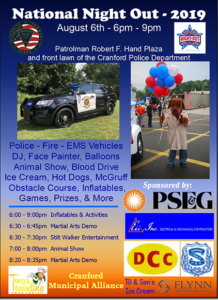 Cranford Police Annual National Night Out @ Night Out Location