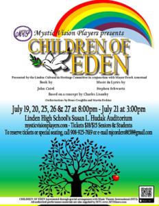 """Linden Cultural and Heritage Committee """"Children of Eden"""" @ Linden High School Auditorium"""