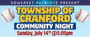 Cranford Community Night at TD Bank Ballpark @ TD Bank Ballpark