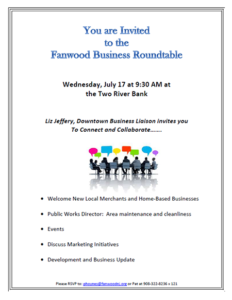 Fanwood Round Table Event @ The Two River Bank