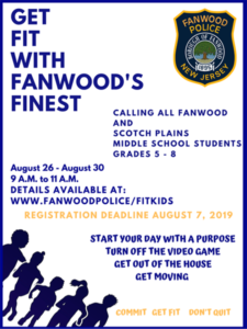 Get Fit with Fanwood's Finest @ Union County Police Academy