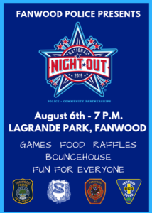 Fanwood Police Annual National Night Out @ LaGrande Park
