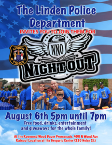Linden Police Department's National Night Out @ Raymond Wood Bauer Promenade