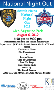 Scotch Plains Police Annual National Night Out @ Alan Augustine Park