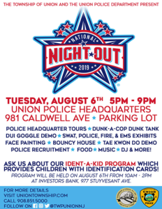 Union Township Police Annual National Night Out @ Police Headquarters