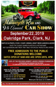 Jason's Friends Foundation Motorcycle Run & Car Show @ Oakridge Park