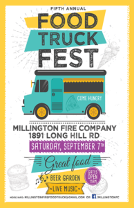 Millington Fire Company Hosts 5th Annual Food Truck Fest @ Millington Fire Company