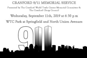 Cranford September 11th Memorial Ceremony @ Cranford's WTC Park