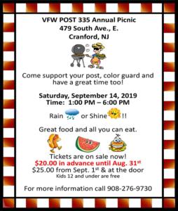 Cranford VFW Post 335 Annual Picnic