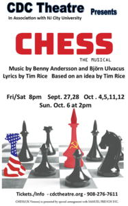 Chess the Musical at the CDC Theatre @ Cranford CDC Theatre
