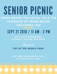 Green Brook Township & PBA Local 398 Senior Picnic @ Top of the World Park
