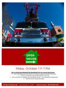 Mountainside Fire Department Annual Open House @ Mountainside Fire Department