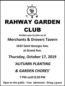 Rahway Garden Club Meeting @ Merchants & Drovers Tavern