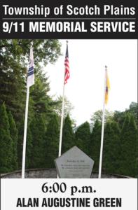 Scotch Plains September 11th Memorial Ceremony @ Alan Augustine Village Green