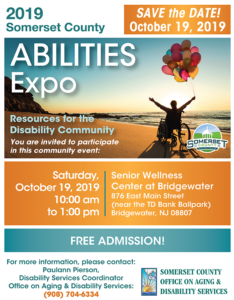 2019 Somerset County Abilities Expo @ Somerset County Senior Wellness Center at Bridgewater