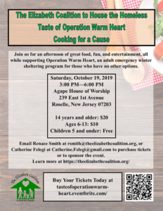 Taste of Operation Warm Heart - Cooking for a Cause @ Christian Church of God Agape House